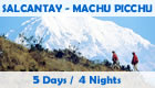 Program: Salcantaya Machu Picchu - 5 days / 4 nights