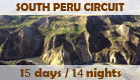 Program: South Peru Circuit - 14 days / 13 nights